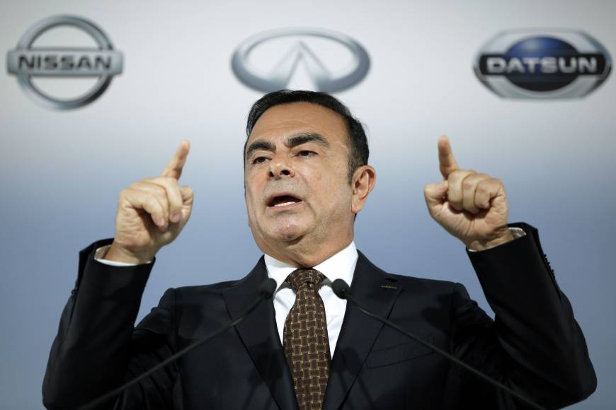 Ghosn to top executive pay scale again