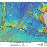This map provided Thursday by the Joint Agency Coordination Centre shows the new search focus for missing Malaysia Airlines Flight MH370. | AP