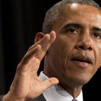President Barack Obama speaks in Washington on June 25. The Supreme Court on Thursday limited the president's power to fill high-level vacancies with temporary appointments, ruling in favor of Senate Republicans in their partisan clash with Obama.   AP
