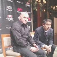 Let's get ready to rumble: UFC president Dana White (left) says he would like to put on more UFC events in Japan in the future. UFC will host an event in Saitama on Sept. 20.   JASON COSKREY