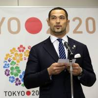 Key position: Former Olympic hammer-throw champion Koji Murofushi speaks on Tuesday after being named the sports director of the 2020 Summer Olympics in Tokyo. AP