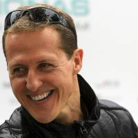 Good news: Formula One great Michael Schumacher, seen in this 2011 file photo, is no longer in a coma and has left the hospital where he was receiving treatment.   REUTERS