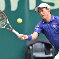 Grand challenge: Kei Nishikori is hoping to bounce back from a poor showing at the French Open when Wimbledon begins later this month. | AFP-JIJI