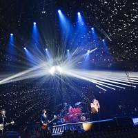 United front: Luna Sea performs at Yoyogi National Gymnasium on May 29 during its 'Luna Sea 25th Anniversary Live — The Unfinished Moon — ' concert.