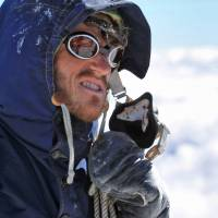 Back up: New Zealand actor Chad Moffit plays Sir Edmund Hillary in the dramatized segments of 'Beyond the Edge,' a documentary that brings to life the first successful ascent of Mount Everest.© 2013 GFC (EVEREST) LTD. ALL RIGHTS RESERVED.