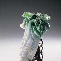 'Jadeite Cabbage' (Qing dynasty, 18th-19th century; on exhibit from June 24 to July 7, Honkan Room T5)