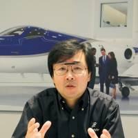 Michimasa Fujino, president and CEO of Honda Aircraft, speaks during a recent interview in Oshkosh, Wisconsin. | KYODO