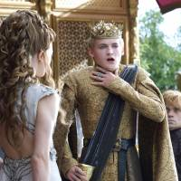Natalie Dormer (left), Jack Gleeson, and Peter Dinklage (right) perform a scene from 'Game of Thrones.' The series garnered 19 Emmy Award nominations on Thursday, including one for best drama series. | AP