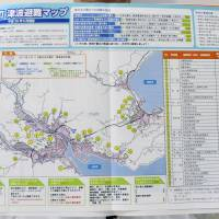 The Otsuchi Municipal Government's latest disaster evacuation map includes information to help residents prepare for a major tsunami, including evacuation sites and their distance above sea level. | KYODO