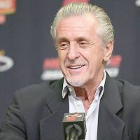 Confident: Miami Heat president Pat Riley, seen here in a file photo, feels good about the team's outlook despite losing LeBron James to free agency. | AP