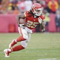 Versatile performer: Running back Jamaal Charles, who rushed for 1,287 yards last season, has agreed to a two-year extension with the Kansas City Chiefs. | AP