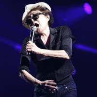 Life is beautiful: Yoko Ono had some positive words for fans during her set at the Red Marquee on Saturday.   CHIEKO KATO