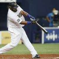 Buffalo stance: Willy Mo Pena and Orix began the second half of the Pacific League season in first place. | KYODO