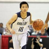 Raising his profile: Guard Yuki Togashi has appeared in three NBA Summer League games for the Dallas Mavericks in Las Vegas. | NBA