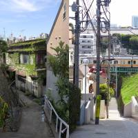 Upstairs, downstairs: Tokyo is full of tiny streets that change in elevation rapidly. | REBECCA MILNER