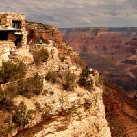 Natural wonders: Lookout Studio, a historic century-old structure near Grand Canyon Village in Arizona, is one of a number of attractions available for sightseeing at the South Rim. | AP