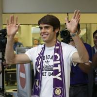Franchise player: Brazilian star Kaka arrives in Florida on Monday after agreeing to join the expansion Orlando City Soccer Club which will begin play in the MLS in 2015. | AP