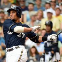 Potent bat: Milwaukee Brewers center fielder Carlos Gomez is hitting .310 through Monday.  | REUTERS/USA TODAY SPORTS