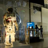 Space is the place: A suit used by supersonic skydiver Felix Baumgartner highlights advances in human conditioning technology.   BEN BRADY