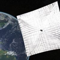 Plain sailing: The Planetary Society's LightSail project is funded by private donors. | AFP