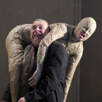 Uplifting: A scene from 'Oedipus' at the Sibiu International Theatre Festival 2014 in Romania. | MARIA STEFANESCU