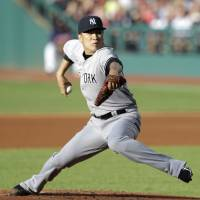 Troubling development: New York's Masahiro Tanaka, who is 12-4 this season, was placed on the disabled list Wednesday with soreness in his right elbow.   AP
