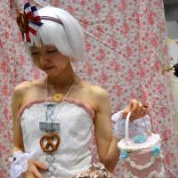 A student displays her sweet-themed goods at Gakuten. | SAMUEL THOMAS