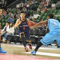 Consistent performer: Guard Akitomo Takeno helped the Rizing Fukuoka advance to the playoffs in each of his five seasons with the Western Conference team. |  YOSHIAKI MIURA