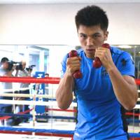Preparation: Boxer Ryota Murata, who's 4-0 since turning pro, held a two-week training camp in Big Bear, California, earlier this month. He faces Mexican fighter Adrian Luna on Sept. 5 at Yoyogi National Gymnasium.   KAZ NAGATSUKA