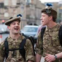 Only 499 to go: Ally (Kevin Guthrie) and Davy (George MacKay) have been discharged from the British Army after serving in Afghanistan, but returning to the realities of daily life in Scotland isn't as easy as they had dreamed. | © DNA FILMS