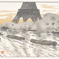 Henri Riviere's 'The Riverboat' from the series 'Thirty-six Views of the Eiffel Tower'
