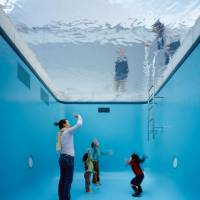 Under water: 'The Swimming Pool' (2004)  | © LEANDRO ERLICH STUDIO; PHOTO BY NAKAMICHI ATSUSHI /NACÁSA & PARTNERS