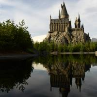The 'Wizarding World of Harry Potter' attraction is seen at Universal Studios Japan in Osaka in August. | BLOOMBERG