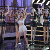 Shake it: Taylor Swift performs at the MTV Video Music Awards on Sunday. | AP