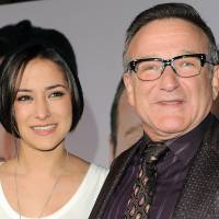 Robin Williams attends the premiere of 'Old Dogs' in Los Angeles on Nov. 9, 2009, with his daughter, Zelda Williams. | AP