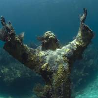 Cameras using the same technology as Google Street View photographed the 'Christ of the Abyss' on Aug. 6 during a survey off the coast of Key Largo, Florida. U.S. government scientists hope people will soon be able get 360-degree online views of underwater wonders. | AP