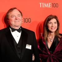 Continental Resources CEO Harold Hamm and his wife, Sue Ann, are seen at the TIME 100 gala, an event celebrating the 100 most influential people in the world, in New York in April 2012. | AP