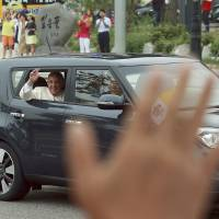 'People's Pope' takes to streets in Kia Soul, fascinates South Koreans