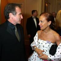 Actor Robin Williams and author Danielle Steel chat at Steel's Star Ball in San Francisco in 2002. The ball benefited the Nick Traina Foundation, founded by Steel as a legacy to her son, who lost his life to manic depression. Williams was everywhere in San Francisco, it seemed, as he made a place for himself in the everyday fabric of a city where he once said he passed for normal. | AP
