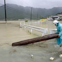 Weakening Typhoon Halong still brings heavy rains to Hokkaido