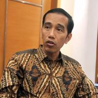 Indonesia's President-elect Joko 'Jokowi' Widodo is interviewed at his office in Jakarta on Monday. | KYODO