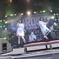 Hits from the '90s: Female pop duo Puffy bring in a huge crowd at the Sound of Forest stage on Saturday at this year's Rock In Japan Fes. | PHOTOS COURTESY ROCK IN JAPAN FES.