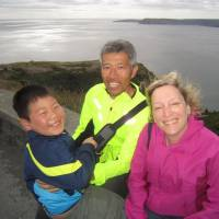 Family portrait: Melodie Cook, her husband and their adopted son on a visit to Newfoundland last year. | WANITA BATES