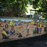One love: A mural at the back of the Bob Marley Museum in Kingston pays tribute to the iconic reggae artist.   REUTERS