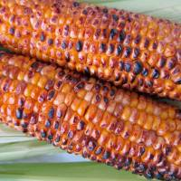 Summer staple: Grilled corn cobs doused in a mixture of soy sauce, mirin and sugar are common at festivals and barbecues. | MAKIKO ITOH