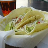It's a wrap: Though rare in Japan, fish tacos come grilled (San Diego style) at Antenna America. | REBECCA MILNER