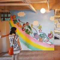 The first bite is with the eye: The walls at Kyoca Food Laboratory are adorned with murals created at one of its opening events. | J.J. O'DONOGHUE