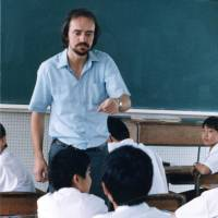 The golden years: David Paul teaches a class at a Japanese school about 30 years ago. | COURTESY OF DAVID PAUL