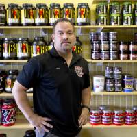 Frank Trumbetti, owner of Rock Bottom Nutrition, in Cherry Hill, New Jersey | AP