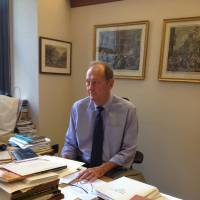 Gifted in many ways: Former New Jersey Sen. Bill Bradley, a U.S. Olympic Hall of Famer, is seen at his New York City office earlier this month. | COURTESY OF BILL BRADLEY